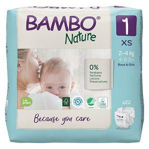 Bambo Nature 1 Newborn, vel. 2-4 kg (22kom/pak)