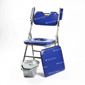 Toaletna stolica sklopiva s mekanim sjedištem Kid-man